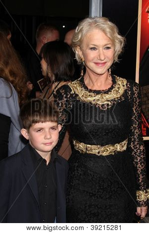 LOS ANGELES - NOV 20:  Felix Mirren, Helen Mirren arrives at the Los Angeles  'Hitchcock' Premiere at Academy of Motion Pictures Arts and Sciences on November 20, 2012 in Beverly Hills, CA