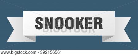 Snooker Ribbon. Snooker Paper Band Banner Sign