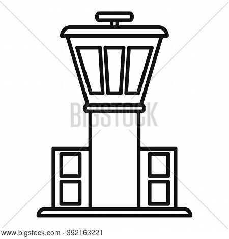 Airport Tower Icon. Outline Airport Tower Vector Icon For Web Design Isolated On White Background