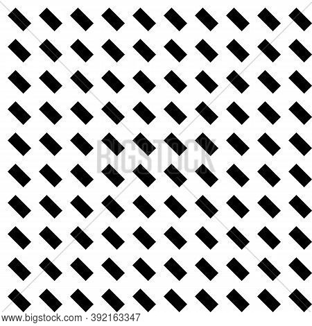 Black Diagonal Dashes Abstract On White Background. Seamless Surface Pattern With Linear Ornament. A