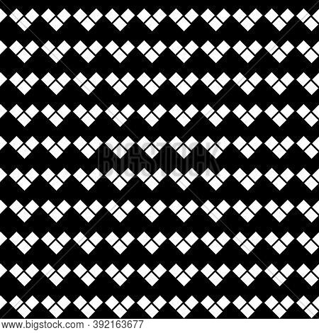 Zigzag Blocks Background. Rhombuses Wallpaper. Seamless Surface Pattern With Repeated Rectangular Ti