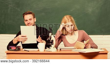 Studying In College Or University. Friends Students Studying University. College Fun. Modern Educati