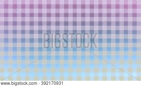 Turquoise Blue Lilac Pink Checkered Background. Space For Graphic Design And Creative Ideas. Checker