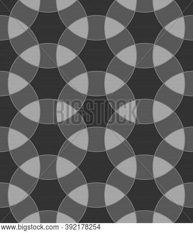 Seamless Surface Pattern Design With Ancient Oriental Ornament. Interlocking Blocks Tessellation. Re