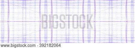 White Flannel Checks. Watercolour Tartan Repeat. Abstract Gingham Ornament. Seamless Flannel Checks.