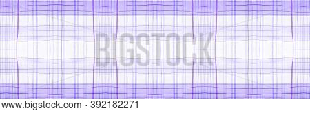 White Flannel Checks. Watercolour Plaid Texture. Fashion Textured Tablecloth. Seamless Flannel Check