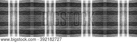 Buffalo Checks. Watercolor Tartan Textile. Woven Traditional Squares For Tweed Design. Seamless Blac