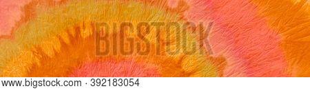 Tie Dye Design. Watercolor Background. Fall Ink Painted Spiral. Brush Wallpaper. Batik Pattern. Autu