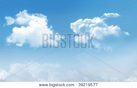 Puffy Clouds And Blue Skye