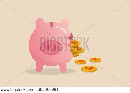 Money Loss From Investment Failure, Bad Habit Problem In Personal Finance, Debt Crisis Or Inflation