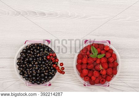Plastic Meal Prep Containers With Fresh Berries