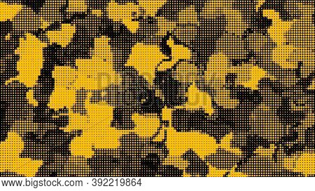 Natural Leaf From Dots. Vector Detailed Background. Isolated Layers Points Camouflage. Abstract Imag