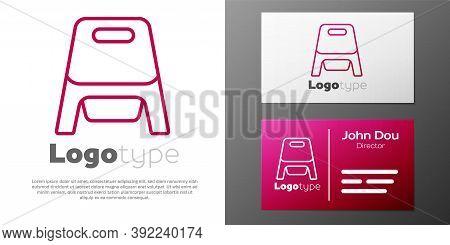 Logotype Line Baby Potty Icon Isolated On White Background. Chamber Pot. Logo Design Template Elemen
