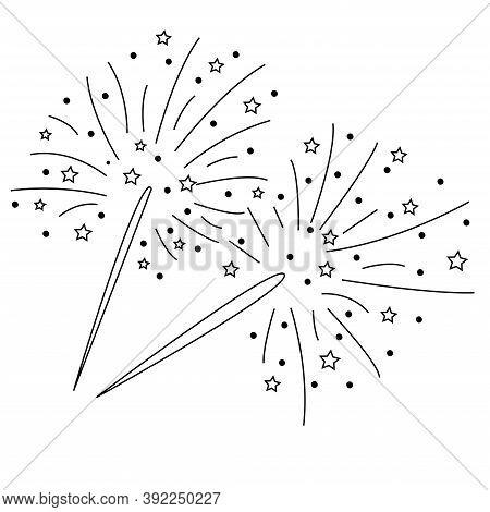 Sparkler Beam Icon Vector Modern Flat Illustration