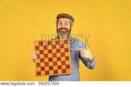 Grandmaster Experienced Player. Enjoy Tournament. Game Strategy Concept. Chess Lesson. Cognitive Dev
