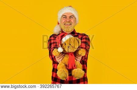 Santa Claus. Mature Man With Long Beard. Christmas Spirit. Christmas Memories From Childhood. Bearde