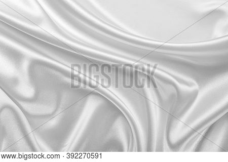 White Silk As An Abstract Background Texture.