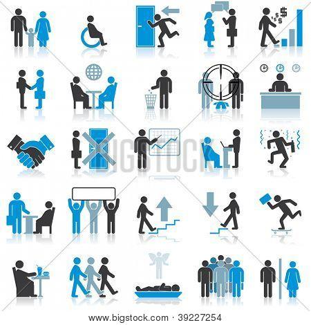 Businessman Icons. Vector Illustrations