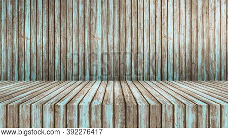 Empty modern studio table room background, product display with copy space for display of your content, 3D illustration