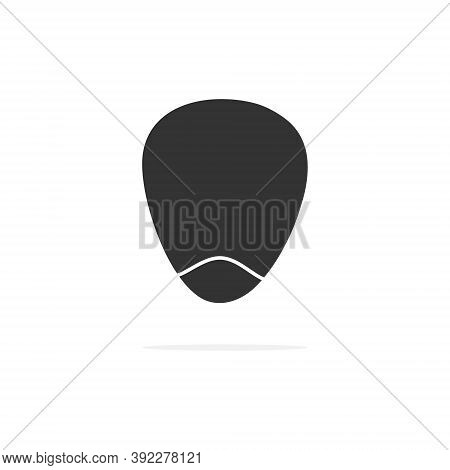 Corn Seed Black Icon. Corn Cob Silhouette. Nature Sweet Food Vector Illustration Isolated On White B