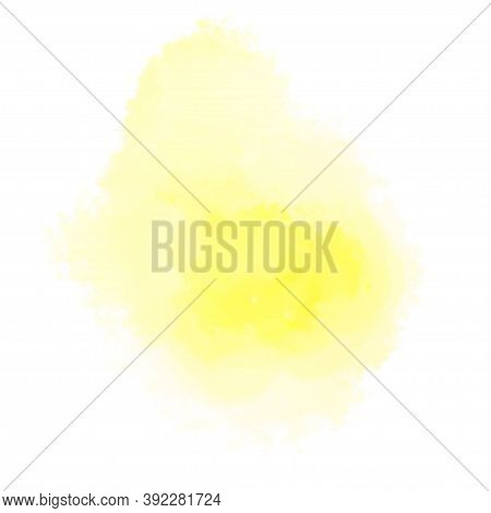 Colorful Spot On Isolated White Background. Colored Aquarelle Splotch