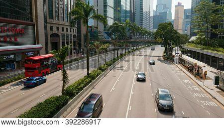 Wan Chai, Hong Kong, 06 September 2020: Hong Kong commercial district