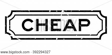 Grunge Black Cheap Word Rubber Seal Stamp On White Background
