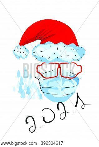 Christmas An Abstract Simbol With Medical Mask