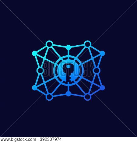 Encryption, Encrypted Network, Cryptography Vector Linear Icon