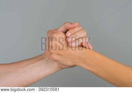 Support. Support In Relationships. Solidarity, Compassion, And Charity. Helping Hand. Two Hands. Car