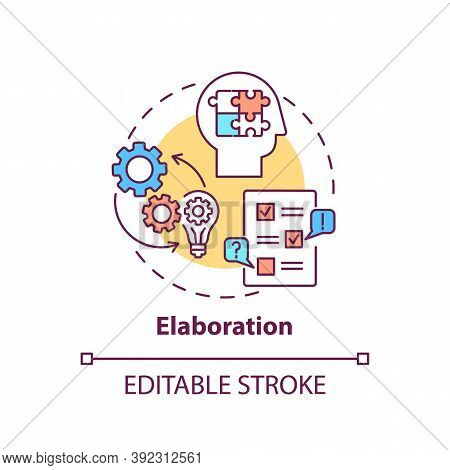 Elaboration Concept Icon. Creative Thinking Skills. Interesting Different Things Creation. Brain Cre