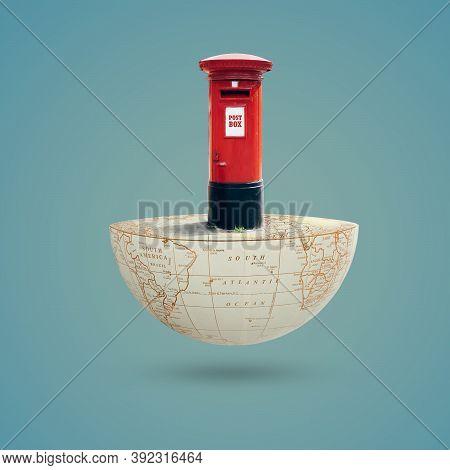 World Post Day, October 9, Letter Box, Postbox,  International Postal Day, Greeting, Social Media Po