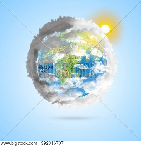 Meteorological Day, World Meteorological Day, March 23. Greeting Card, Icon In The Linear Style, Met