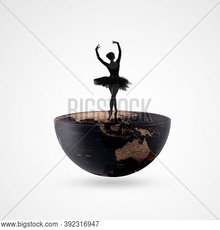 Dance Day, April 29, International Dance Day, Dancing Couple On Background. Design Template For Bann