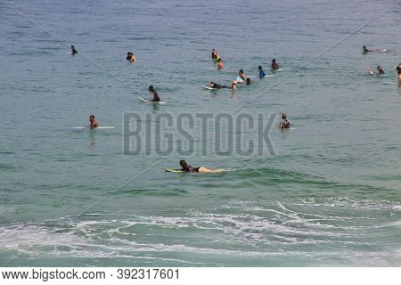 Rio De Janeiro, Brazil - 09 May 2016: The Serfer On Ipanema Beach In Rio De Janeiro, Brazil