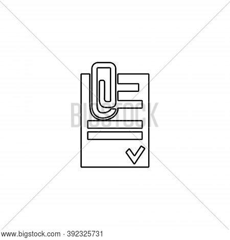 Paper Document Attachment Icon. Attach File Sign.