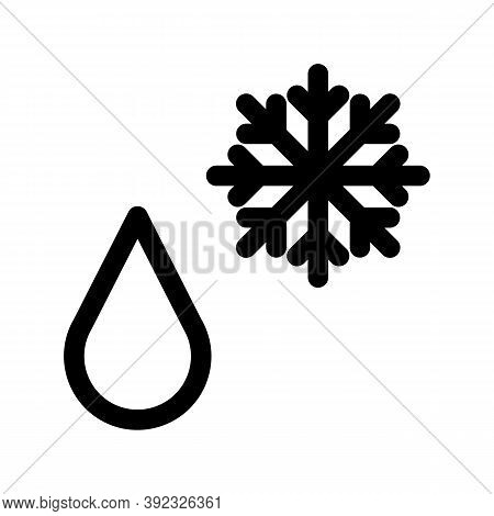 Precipitation Outline Icon. Black And White Item From Set Dedicated Weater, Linear Vector.