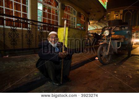 Old Man Watches Celebration