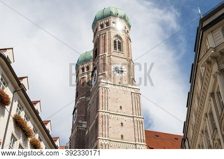 Famous Cathedral Frauenkirche In Munich, Bavaria, Germany
