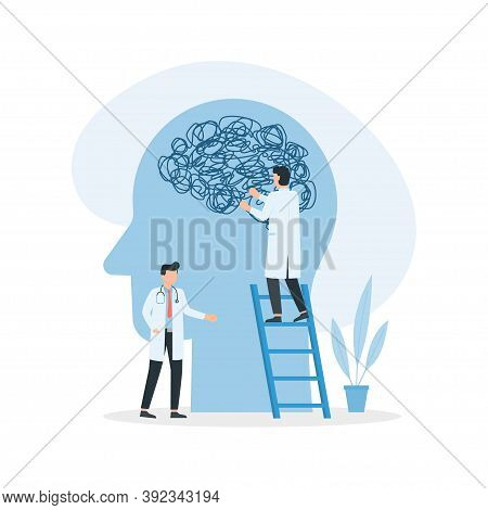 Psychotherapy. Doctors Team Solving Mental Problems. Mental Health Care Treatment Concept. Psycholog