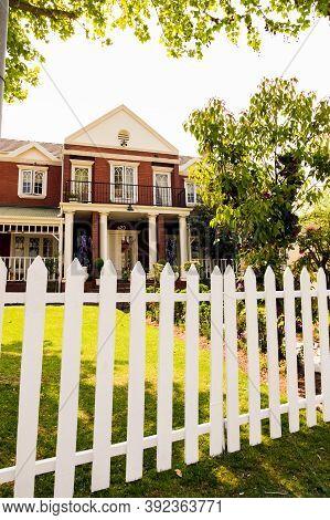 Upmarket Wealthy Suburban Neighborhood In Gated Community Estate