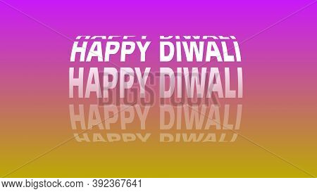 Diwali Text With Rotational Cylindrical Shape And Multicolored Background, Diwali Celebration, Diwal