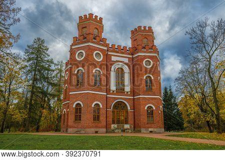 The Old Arsenal Pavilion, Gloomy October Day. Tsarskoe Selo, Saint Petersburg