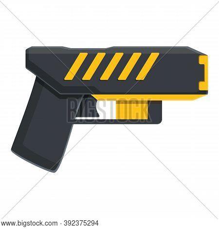 Taser Stun Defense Icon. Cartoon Of Taser Stun Defense Vector Icon For Web Design Isolated On White