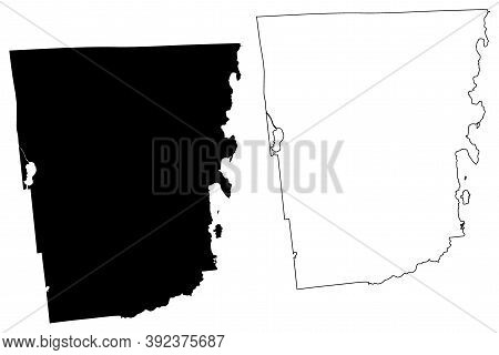 Clinton County, New York State (u.s. County, United States Of America, Usa, U.s., Us) Map Vector Ill