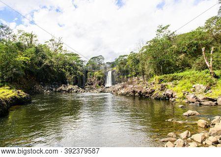 The Rainbow Falls In Hilo On Big Island Hawaii