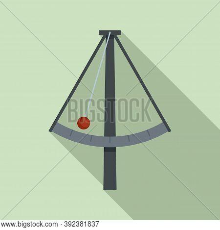 Metronome Gravity Icon. Flat Illustration Of Metronome Gravity Vector Icon For Web Design