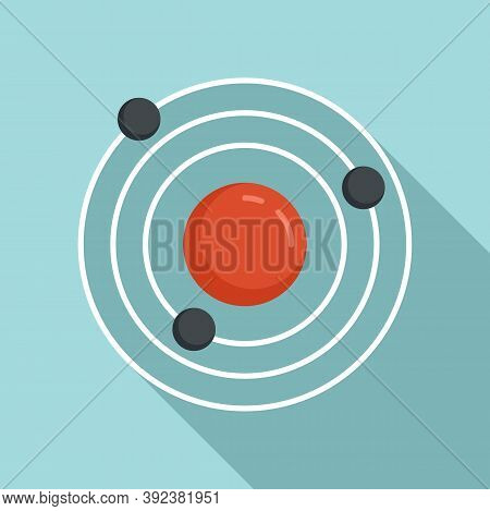 Atom Gravity Icon. Flat Illustration Of Atom Gravity Vector Icon For Web Design
