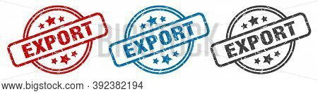 Export Stamp. Export Round Isolated Sign. Export Label Set