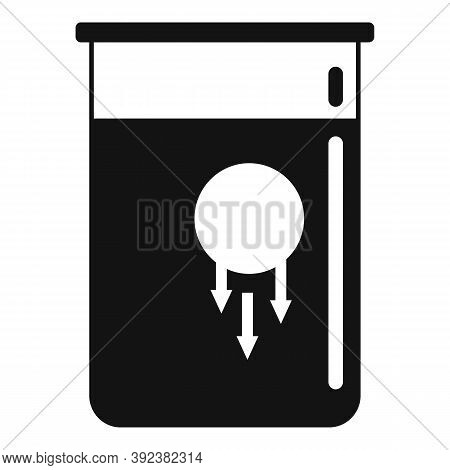 Sphere Flask Gravity Icon. Simple Illustration Of Sphere Flask Gravity Vector Icon For Web Design Is
